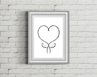 Modern Decor, Digital Prints, Art Printable, Wall Decor, Poster, Art Poster, Instant Download, Heart poster, heart, love, hearts, pattern