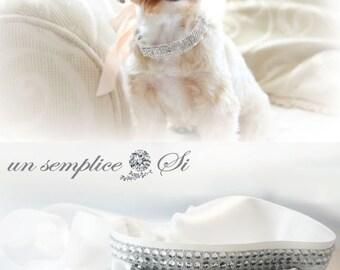 Dog Collar, Dog Leash, Diamond Puppy Collar, Diamond Dog Leash