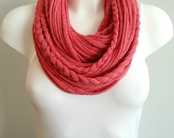 T shirt scarf, t shirt infinity scarf, loop scarf, fabric scarf, cotton fabric scarf