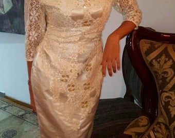 Vintage White Embroidered dress