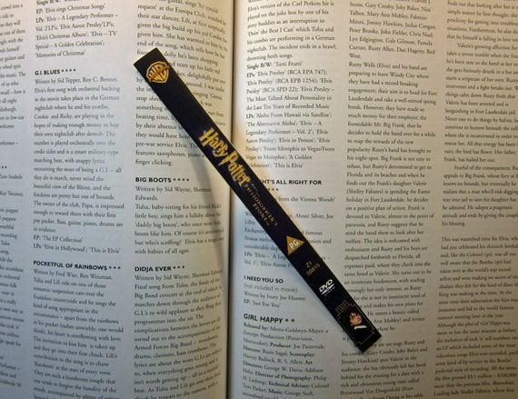 Harry Potter and the Philosopher's Stone - Daniel Radcliffe, Emma Watson, Rupert Grint, Alan Rickman - Recycled DVD bookmark spine