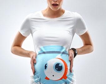 Fish Bowl Funny Maternity Shirt - Mamagama Pregnancy tshirt - Mamagama Maternity Wear - Gift