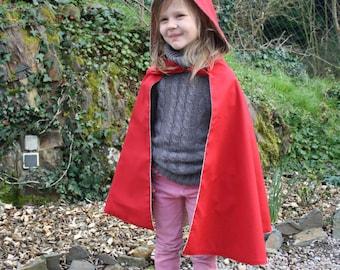 little red riding hood, little red riding hood costume, little red riding hood, kids cape, cape with hood, hooded kids cape, kids costume