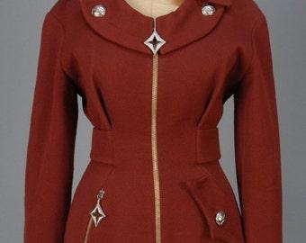 1980s Thierry Mugler Jacket, Vintage Clothing, Italy, Designer Clothing