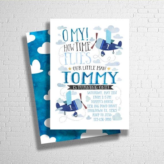Items Similar To Airplane Birthday Invitation: Airplane Birthday Invitation Airplane Birthday Invite