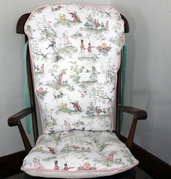 moon nursery rhyme toile rocking chair cushions rocking chair pads
