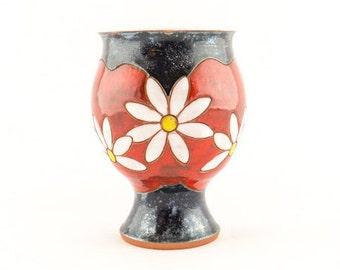 Ceramic Wine Glass, Ceramic Goblet, Wedding Glass, Pottery Goblet, ceramics and pottery, pottery chalice, wheel thrown goblet, wine goblet,