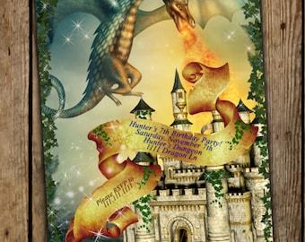 Dragon Invitations, Dragon Party, Dragon Birthday Party, Dragons