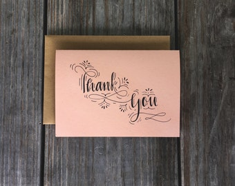 Vintage Wedding Thank You, Rustic Wedding Thank You, Wedding Thank You Cards