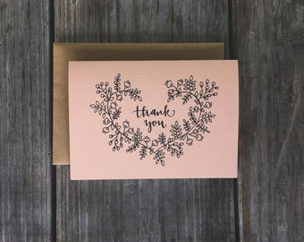 Thank You Cards for Wedding Gifts, Rustic Thank You Cards, Wedding Thank You Cards