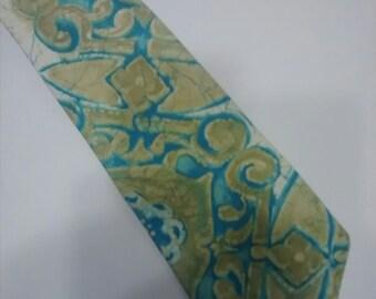 tie, necktie, KOLI KOLI, 100% COTTON, men, menswear, vintage, clothing, accessories, craft supplies, costume, Hawaiian, retro