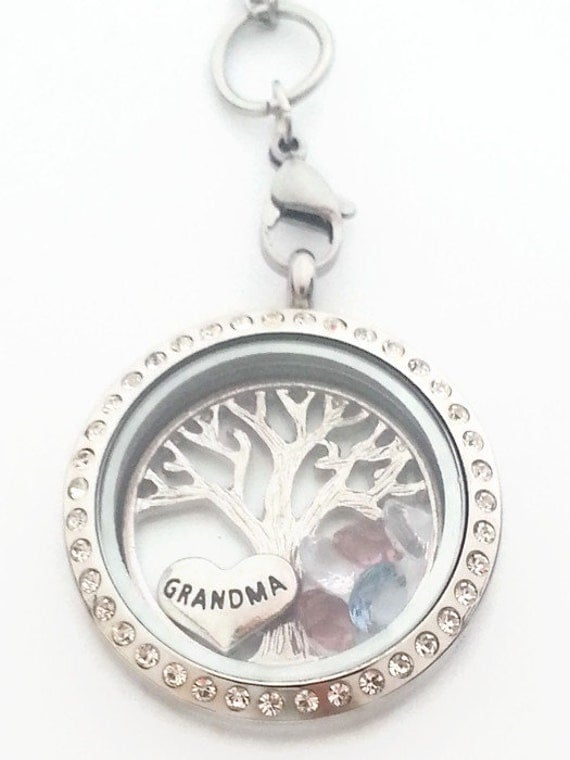 Grandma necklace unique gift for grandma locket for for Grandmother jewelry you can add to