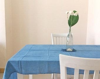 Indigo Cotton Table Cloth/ Indigo Hand Dyed Hand Stitched Table Cloth/ Indigo Hand Stitched Table Cloth / Indigo Cotton Table Cloth