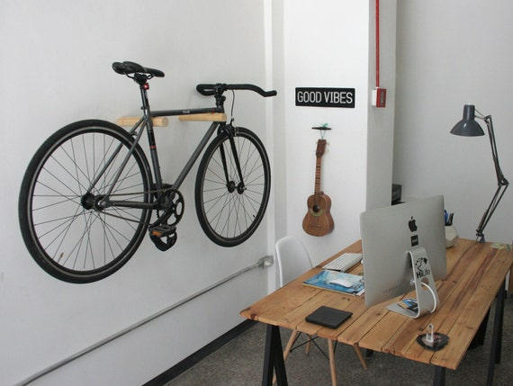 levita wood bike rack bike hanger bicycle storage bike. Black Bedroom Furniture Sets. Home Design Ideas