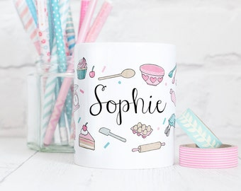 Personalised Baking Mug - Those Who Bake Collection - Gift for Bakers