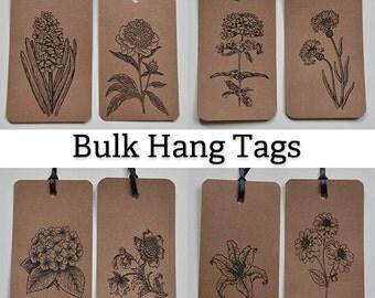 Bulk Floral Gift Tags: 108 Handmade Gift Tags - Kraft - Floral Victorian - Kraft Hang Tags - Victorian Gift Tags