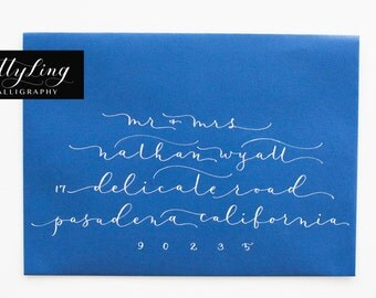 Modern Calligraphy Address Envelopes: DELICATE