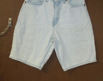 Vintage Levi's Denim Jean Shorts Size 29 Relaxed Fit 550