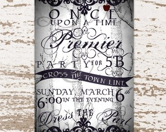 Once Upon A Time Party Invitation / Premier Party