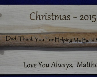 Christmas Gift For Dad ~ Husband Gift ~ Engraved Hammer ~ Gift For Dad ~ Gifts For Guys ~ Engraved Gift For Husband  ~ Christmas Gifts ~ USA