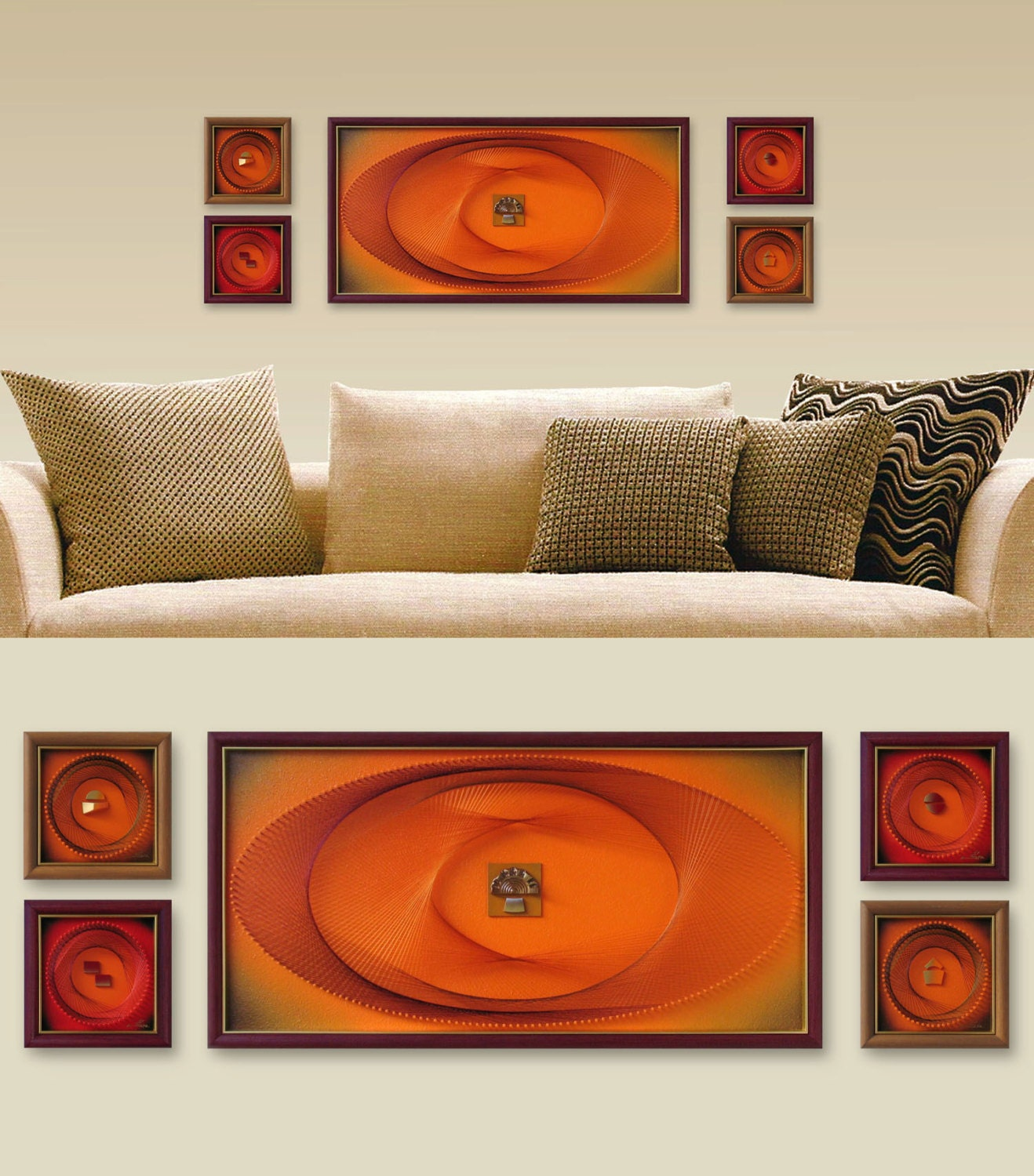 Orange Wall Art Set Zen Modern Wall Decor 3d Abstract String. Franklin Art. Pull Down Bed. White Modern Tv Stand. Wallpaper Frame. Chair Seat Height. Beachy Living Rooms. Cool Trash Cans. Built In Bed