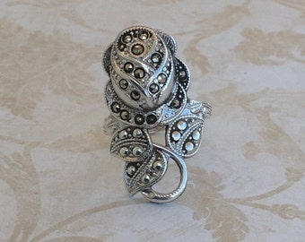 Vintage Sterling Marcasite/Marquesite Ring