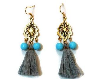 Gold Boho Earrings - Gold Tassel Earrings - Boho Tassel Earrings - Boho Earrings - Tassel Earrings - Gold Earrings - Bohemian Earrings