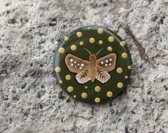Moth Wooden Pin