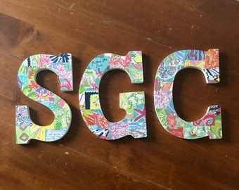 Lilly Pulitzer Print Letters