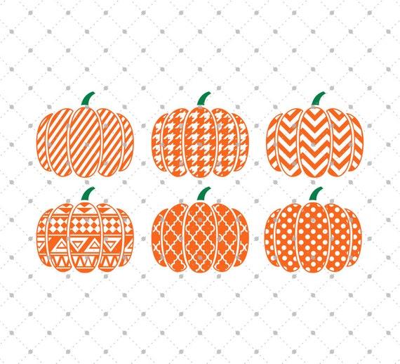 patterned pumpkin svg cut files halloween svg pumpkin svg
