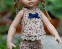 "Sewing Pattern: Halter Top for 7.5"" Riley Kish - (includes 3 versions)"