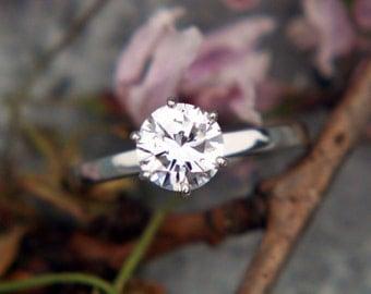 Lab Ring, Lab Rings, Lab Created Diamonds, Lab Created Diamond, Lab Created Diamond Ring, 0.5 CT Solitaire Engagement Ring 14k White Gold