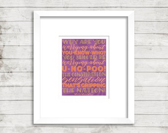 U No Poo Poster. Weasleys' Wizard Wheezes. Harry Potter. Instant Download. Calligraphy Font. Quote Prints. Home Decor. Wall Art.