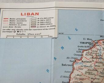 1956 Lebanon Vintage Map