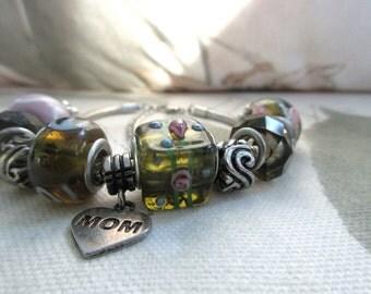 For Mom charm bracelet european style bracelet