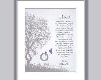 Dad Gift - Gift For Dad - Personalized Dad Gift - Father Daughter Gift - Christmas Gift - Fathers Day Gift - Dad Poem - Father Print