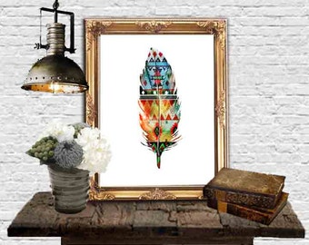 Feather Decor Feather Wall Art Feathers Printable