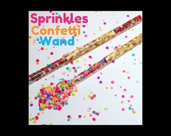 Set of 10 - Sprinkles Confetti Wand