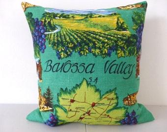 Barossa Valley Cushion Cover Australian Places Winery Wine Lover Gift Present Australiana Tea Towel Vineyard Cushion South Australia