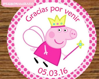 Tags Peppa Pig Toppers labels Peppa Pig Princess 12 / Cupcake Toppers Tags