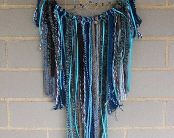 Handmade Dreamcatcher - Blue, Turquoise, Teal - Urban Outfitters, Free People