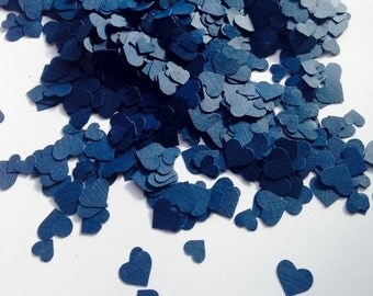 2,000 Dark Navy Mini Heart Table Confetti, Navy Wedding Decor, Party Decor, Baby Shower, Bridal Shower, All Occasion Navy Blue Confetti
