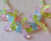 Vintage Fruit Necklace Lucite Necklace Vintage 1970s