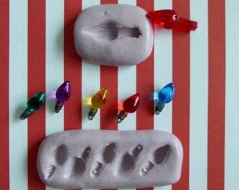 Christmas Lightbulb Light Bulb Silicone Mold Cake Tool Fondant Chocolate Candy DIY Cupcake Topper Decorations Polymer Clay Craft