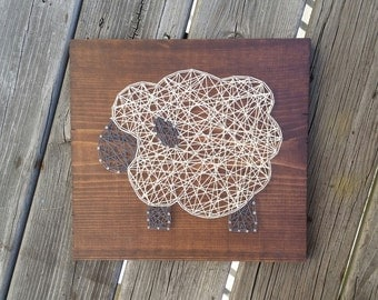Made to Order String Art Sheep Sign