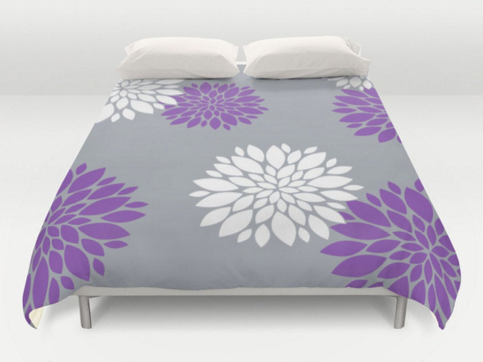 grey purple duvet covers