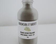 CHARCOAL CLAY MASK // organic detoxifying face mask sea kelp bentonite clay activated charcoal
