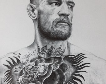 Conor McGregor the Notorious Pen Drawing A3 Print