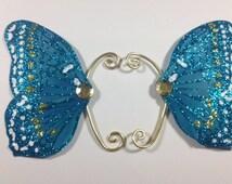 Blue Fairy Earwings Ear Wings Earcuffs Fairy Wings Butterfly Wings Costume Wings