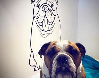Dog Stencil Etsy